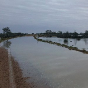 Birdsville Track hours after the start of the flooding