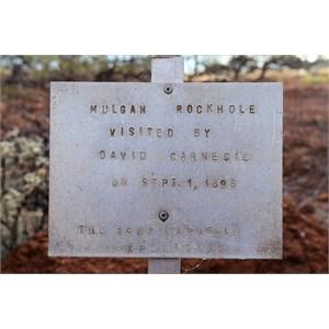 Mulgan Rockhole Sign