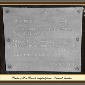 Len's plaque - Everard Junction