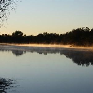 Murchison River at Galena Bridge on sunrise