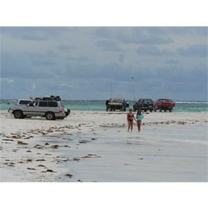 Wedge Island beach scene.
