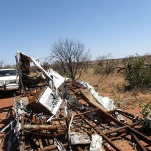 Caravan burnt out in 2012 bushfire
