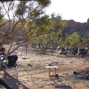 DQB campsite after the fires of 2008