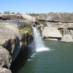 Falls and plunge pool