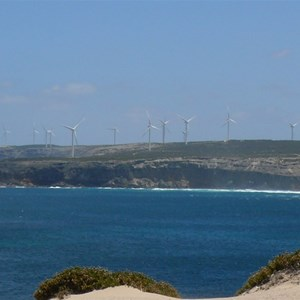 Cathedral Rocks wind farm from Red Banks