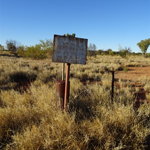 Bore and old airstrip Site near mount Winter