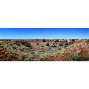 Complete panoramic view of the Veevers crater