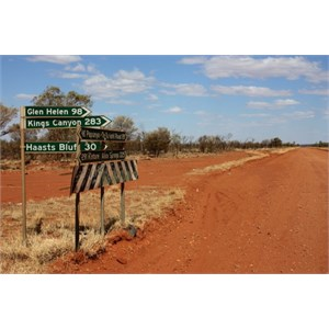 Gary Junction Road/Namatjira Kintore Link intersection