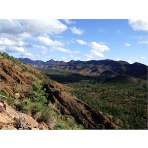 View from the range above Acraman Campgound - Flinders Ranges