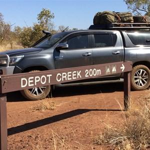 Depot Creek turn off, Broadarrow Track