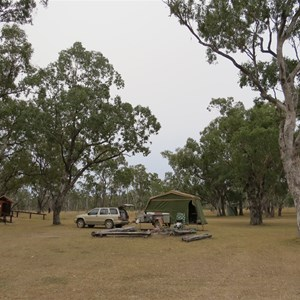 General view of camping area  - June 2013