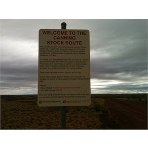 Kidson Track Canning Stock Route Sign
