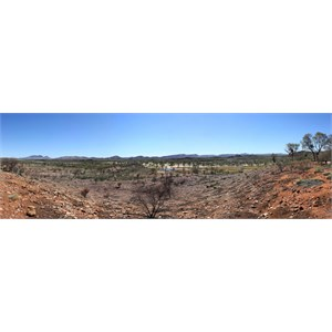 Panoramic view of Finke River from Mt Sonder Lookout