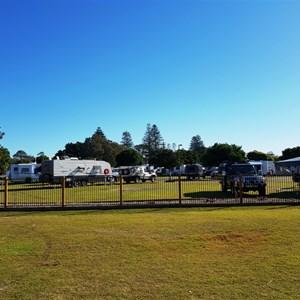 General view of the caravan park