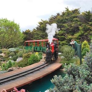 The Steam Train ride at Cockington Green