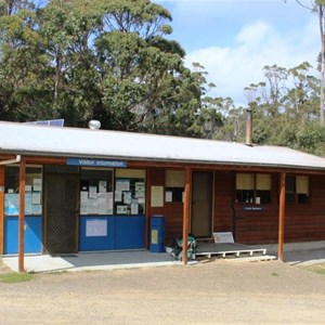 The caretaker office at Cockle Creek