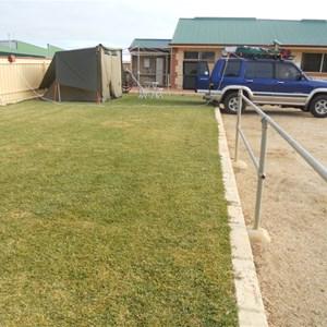 Raised Powered Tent Sites