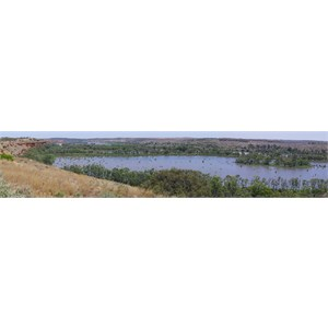 Wide panorama view of the backwaters