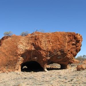 Nearby rock