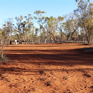 Plenty of space to camp on red dirt