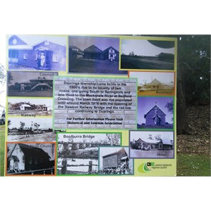 Historical information board at the camping area