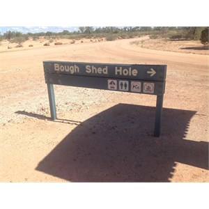 Entry to Bough Shed Hole Campground