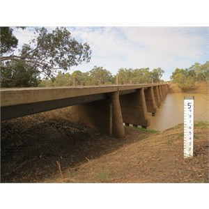 Bridge dry but approaches covered at 4.38 metres