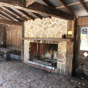 Fire place in shelter