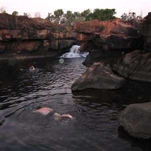 Swimming hole at KER Campground