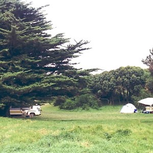 Front gate campground - wind protected, flush WC
