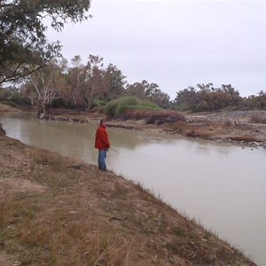 Waterhole at Bourke's Grave camp area