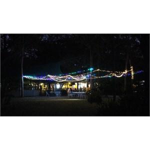 Punsand Bay restaurant at night
