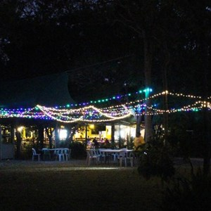 Punsand Bay restaurant at night