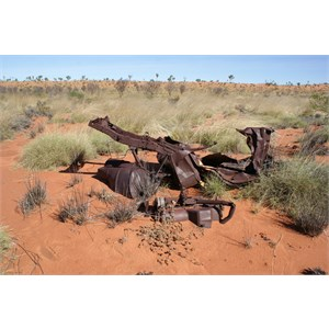 Wreck of the old jeep - Anna Plains Track