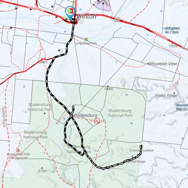 Track Log Mud Map