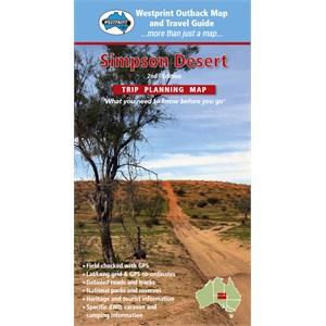 Simpson Desert Trip Planning Map